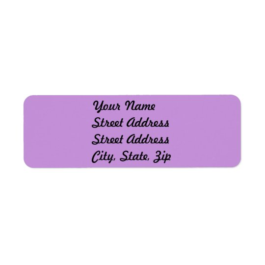 Light Pastel Lavender Return Address Sticker