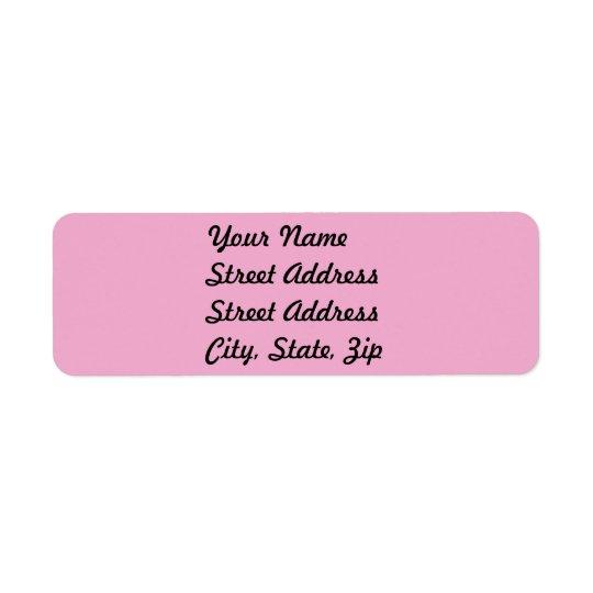 Light Pastel Pink Return Address Sticker