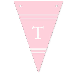 Light Pastel Pink Wedding Decorations Bunting Flags