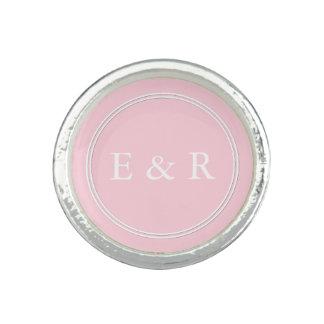 Light Pastel Pink Wedding Party Set Photo Ring
