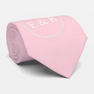 Light Pastel Pink Wedding Party Set Tie