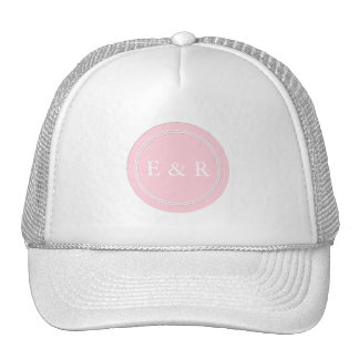 Light Pastel Pink Wedding Party Set Trucker Hat