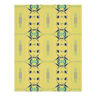 Light Pastel Yellow Seamless Pattern Personalized Letterhead