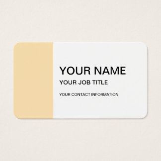 Light Peach High End Colored Business Card