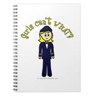 Light Pilot Girl Notebooks