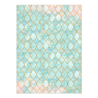 Light pink and Aqua Maroccan pattern Card