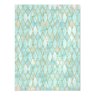 Light pink and Aqua Maroccan pattern Magnetic Card