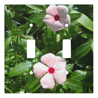 LIGHT PINK AND RED FLOWERS LIGHT SWITCH COVER