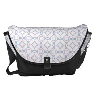 Light Pink and White Flower Pattern Courier Bags