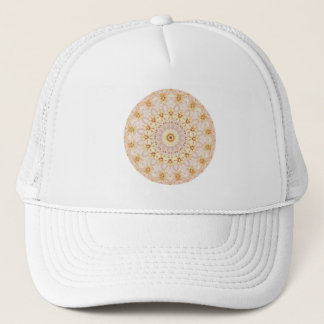Light Pink and Yellow Floral Mandala Trucker Hat