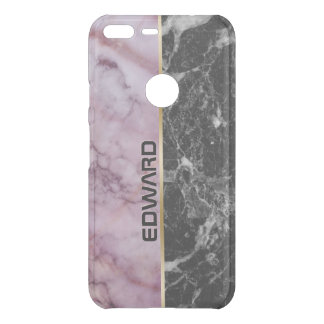 Light Pink & Black Marble Stone Uncommon Google Pixel XL Case