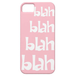 Light Pink Blah Blah Blah iPhone 5s Case iPhone 5 Cover