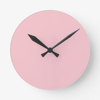 Light Pink Colour Round Clock