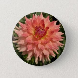 Light Pink Dahlia Petals Motif 2 Inch Round Button