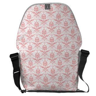 Light Pink Damask Messenger Bag
