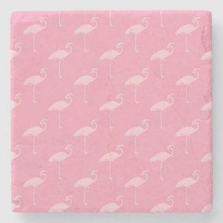 Light Pink Flamingo Tropical Flamingos Stone Coaster