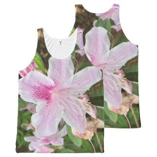 Light Pink Flower All-Over-Print Tank Top