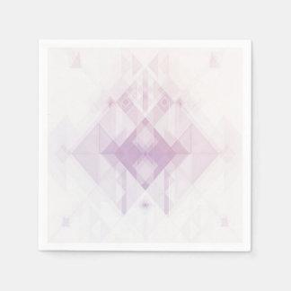 Light Pink Geometric Pattern Paper Napkin