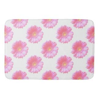 Light pink gerbera daisy bathroom mat