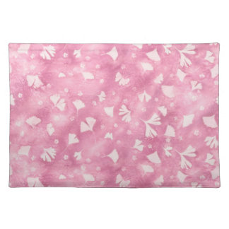 Light Pink Ginkgos and Flowers Place Mat