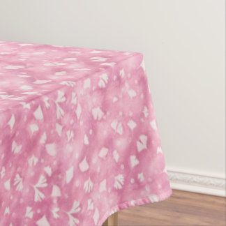 Light Pink Ginkgos and Flowers Table Cloth