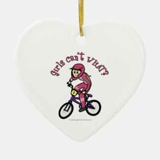 Light Pink Girls BMX Ceramic Ornament