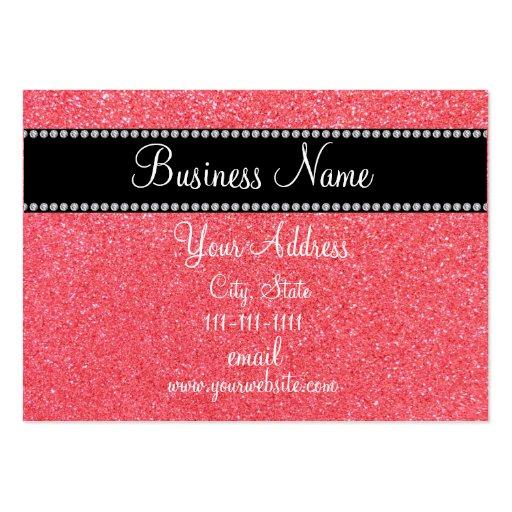 Light pink glitter bling business card template