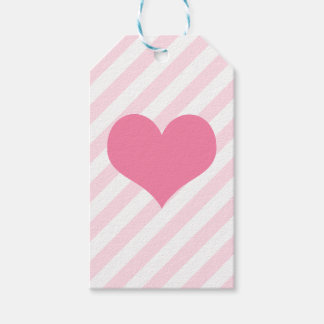 Light pink heart pack of gift tags