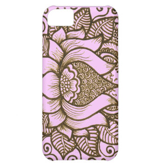 light pink henna design cover for iPhone 5C