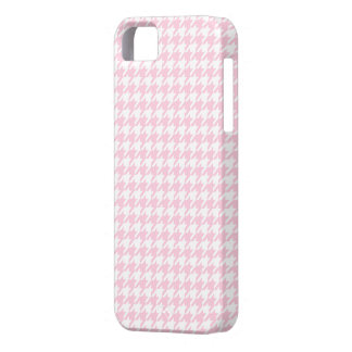 Light Pink Houndstooth Pattern iPhone 5 Case