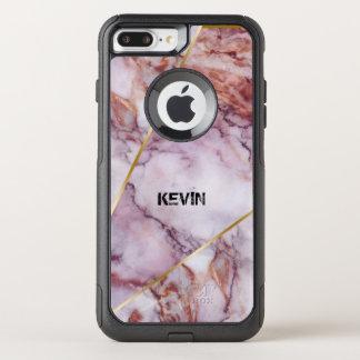 Light Pink Marble, Modern Geometric Design OtterBox Commuter iPhone 8 Plus/7 Plus Case