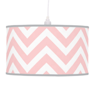 Light Pink Modern Chevron Pendant Lamp
