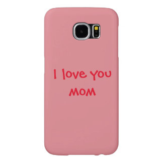 Light Pink Mother's Day Love You Mom Samsung Galaxy S6 Cases