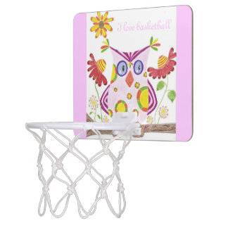 Light pink owl mini basketball hoop