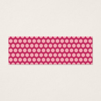Light Pink Polka Dots Mini Business Card