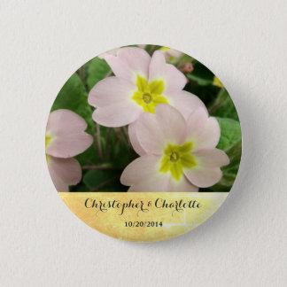 Light Pink Primrose Flowers Custom Wedding 2 Inch Round Button