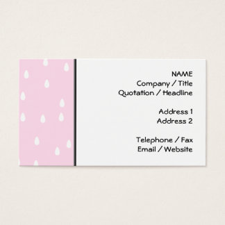 Light pink rain pattern. White and pink. Business Card