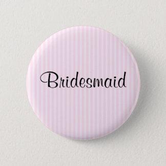 Light Pink Stripes Wedding 2 Inch Round Button