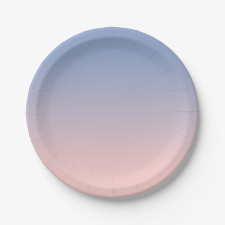 Light Pink to Blue Ombre Paper Plates