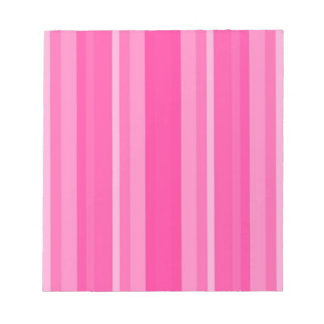 Light Pink to Dark Pink Stripes Notepad