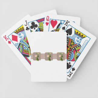 Light Pink Vintage Flowers Wide Bicycle Playing Cards