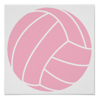 Light Pink Volleyball Posters