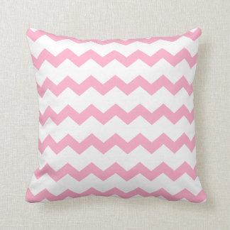 Light Pink White Chevron ZigZag Pattern Throw Pillow