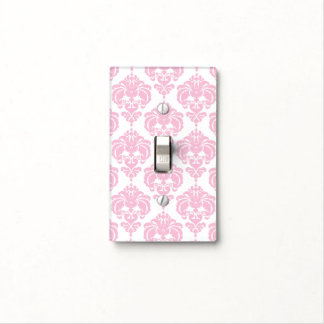 Light Pink & White Glam Pattern Modern Chic Light Switch Cover
