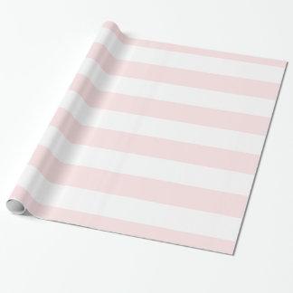 Light Pink, White XL Stripes Pattern Wrapping Paper
