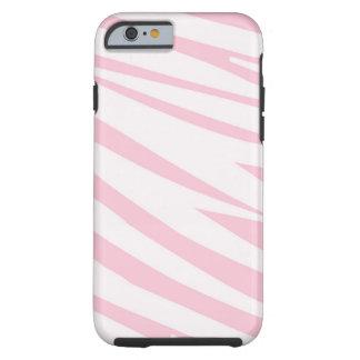 Light Pink Zebra Pattern Tough iPhone 6 Case