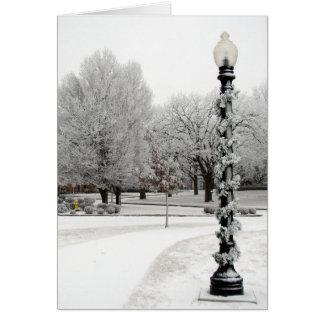 Light Pole Winter Scene Card