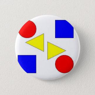 Light Primary 2 Inch Round Button