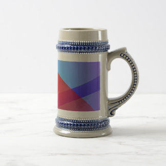 Light Purple and Red 18 Oz Beer Stein