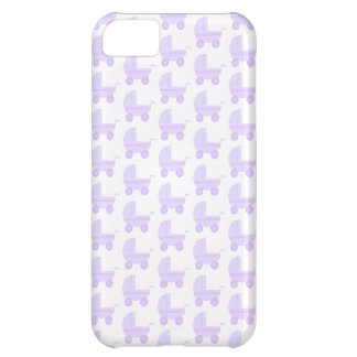 Light Purple and White Baby Stroller Pattern. iPhone 5C Cases
